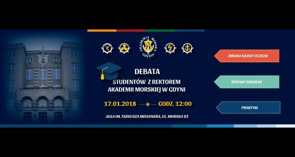 Debata z Rektorem Akademii Morskiej w Gdyni