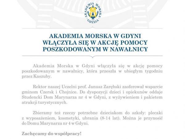 Apel Akademii Morskiej w Gdyni