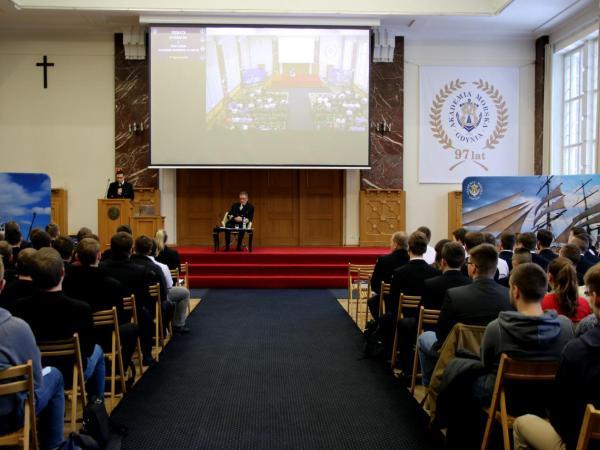 Debata z Rektorem Akademii Morskiej w Gdyni, fot. Magdalena Zajk